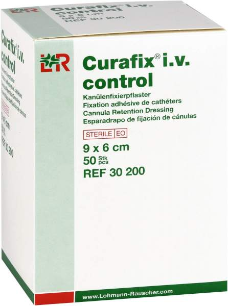 Curafix I.V. Control Kanülenfixierpflaster 9x6cm