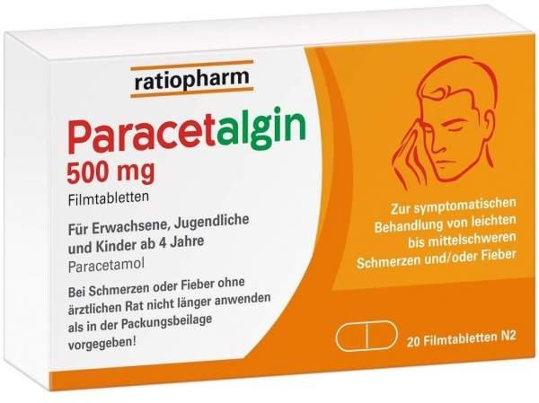 Paracetalgin 500 mg 20 Filmtabletten