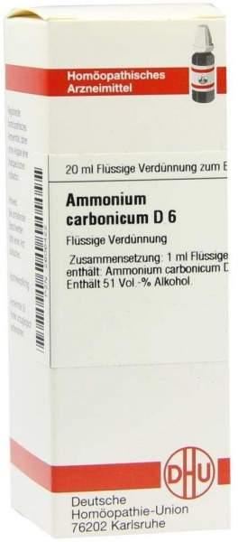 Ammonium Carbonicum D 6 Dilution