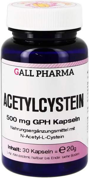 Acetylcystein 500 mg Gph 30 Kapseln