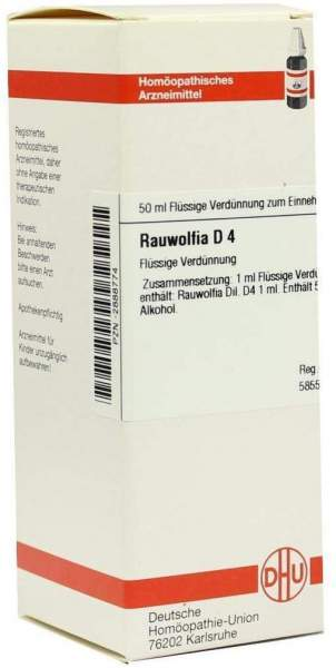 Rauwolfia D4 Dilution 50 ml Dilution