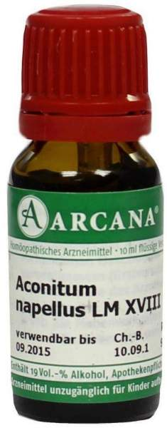 Aconitum Arcana Lm 18 Dilution 10 ml
