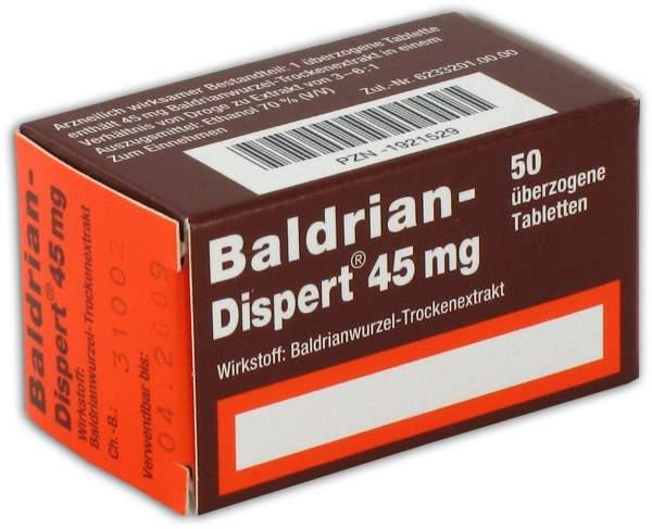 Baldrian Dispert 45 mg 50 überzogene Tabletten