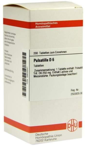 Pulsatilla D6 200 Tabletten
