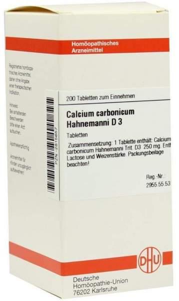 Calcium Carbonicum Hahnemanni D 3 200 Tabletten