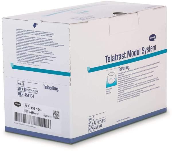 Telasling Schlinggazetupfer Steril Nr. 3 20x10 Tupfer
