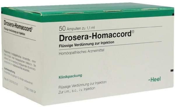 Drosera Homaccord Ampullen 50 Ampullen
