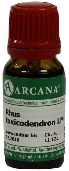 Rhus Toxicodendron Lm 6 Dilution 10 ml
