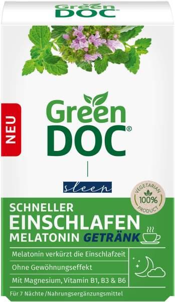Greendoc Schneller Einschlafen Melatonin Getränk 7 x 4 g