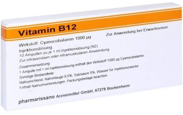 Vitamin B12 Röwo 1000 µg 10 X 1 ml Ampullen