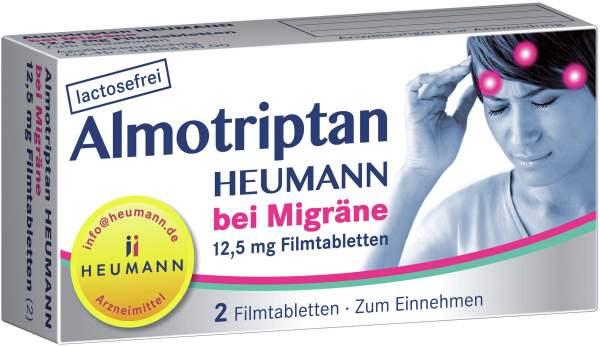 Almotriptan Heumann bei Migräne 12,5 mg 2 Filmtabletten