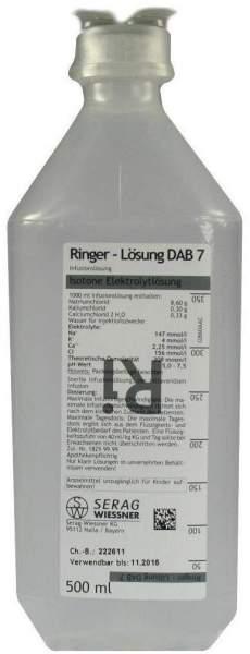 Ringer Lösung Dab 7 Plastik 500 ml Infusionslösung