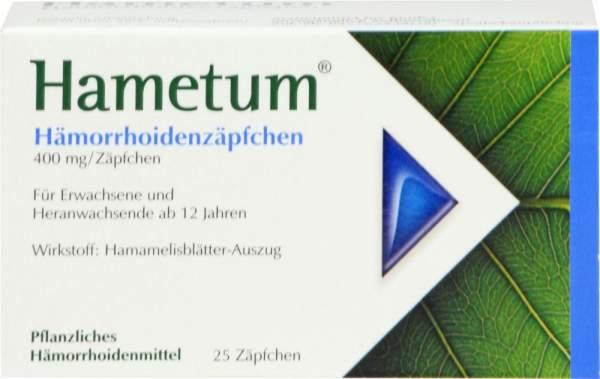 Hametum Hämorrhoidenzäpfchen 25 Stück