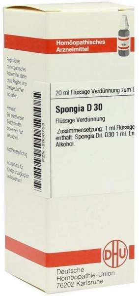 Spongia D 30 Dilution