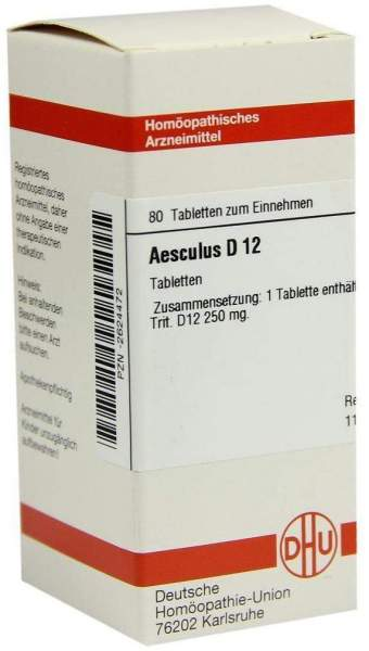 Aesculus D12 80 Tabletten