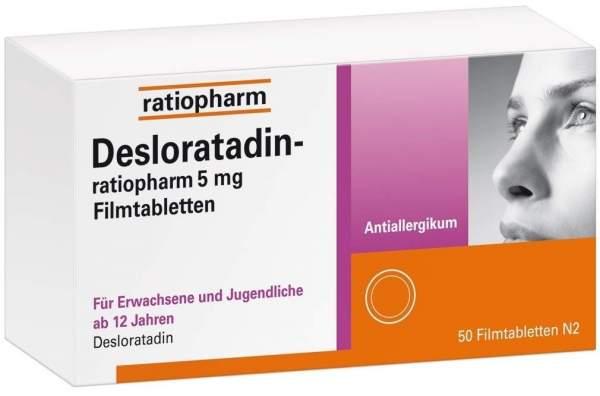 Desloratadin-ratiopharm 5 mg 50 Filmtabletten