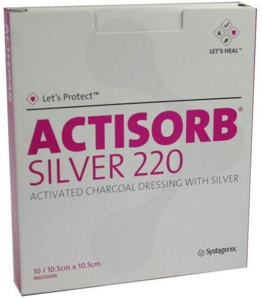 Actisorb 220 Silver 10,5x10,5cm Steril Kompressen