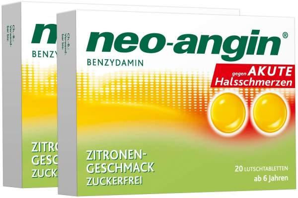 Neo angin Benzydamin Zitrone 2 x 20 Lutschtabletten