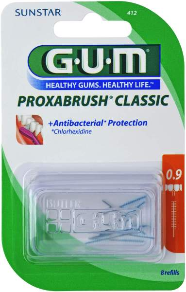 Gum Proxabrush Ersatzbürsten Kerze 8 Aufsätze
