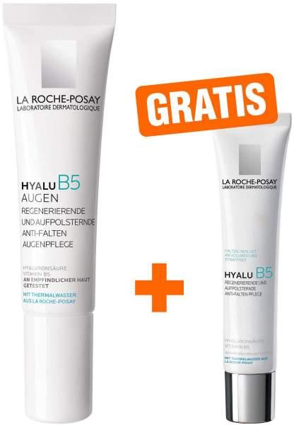 La Roche Posay Hyalu B5 Augen Creme 15 ml + gratis Hyalu B5 Pflege 7,5 ml