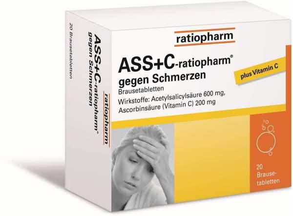 ASS+C-ratiopharm gegen Schmerzen 20 Brausetabletten