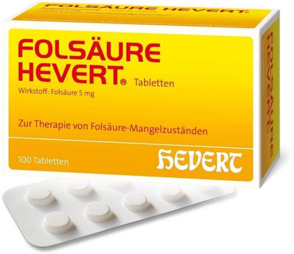 Folsäure Hevert 100 Tabletten