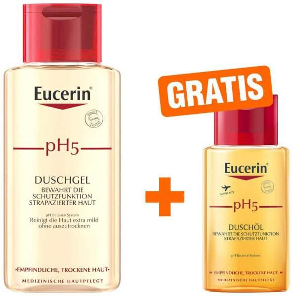 Eucerin pH5 Duschgel 200 ml empfindliche Haut + gratis pH5 Duschöl 100 ml