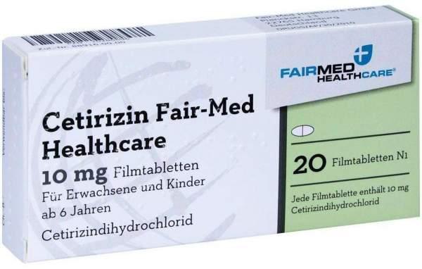 Cetirizin Fair-Med Healthcare 20 Filmtabletten