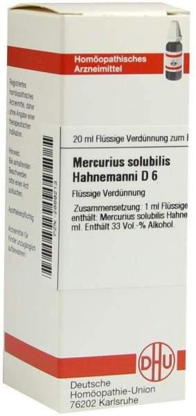 Mercurius Solubilis D6 Hahnemanni Dhu 20 ml Dilution