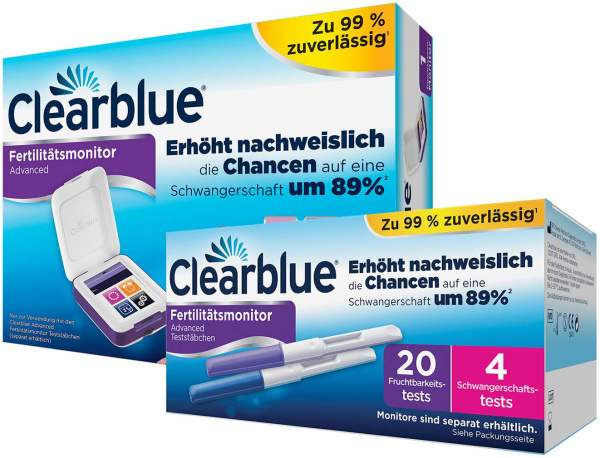 Sparset Clearblue Advanced Fertilitätsmonitor + Clearblue Fertilitätsmonitor 20 Teststäbchen 1 Set