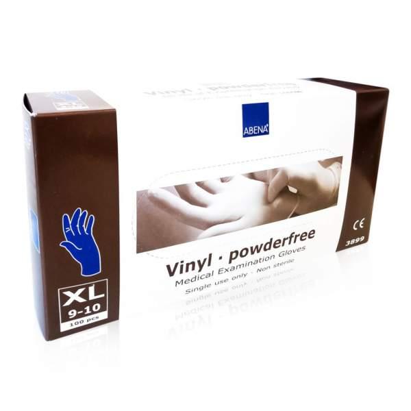 Vinyl Handschuhe Puderfrei X-Large Blau