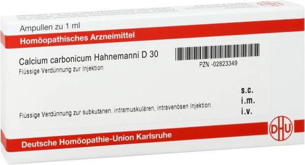 Calcium Carbonicum D 30 Ampullen Hahnemanni 10 X 1 ml Ampullen
