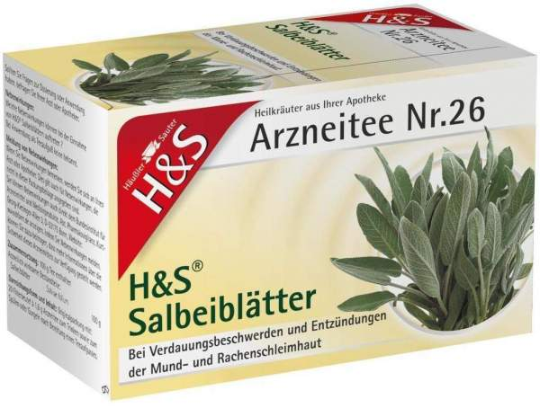 H&S Salbeiblätter Tee 20 Filterbeutel