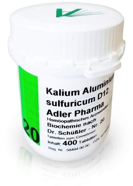 Biochemie Adler 20 Kalium Aluminium Sulfuricum D 12 400 Tabletten