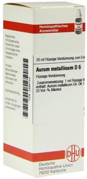 Aurum Metallicum D 6 20 ml Dilution