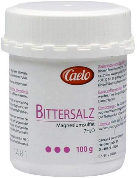 Caelo Bittersalz (magnesiumsulfat) Hv Packung 100 G
