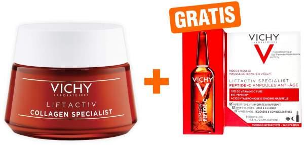 Vichy Liftactiv Collagen Specialist 50 ml Creme + gratis Specialist Peptide C Anti Age Ampulle 1,8 ml