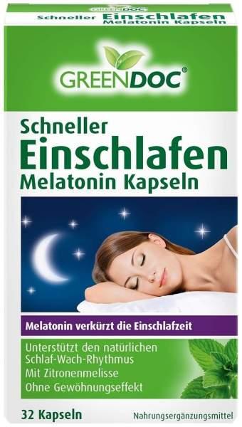Greendoc Schneller Einschlafen Melatonin 32 Kapseln