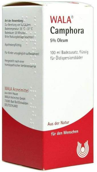 Wala Camphora Öl 5% Oleum 100ml Badezusatz