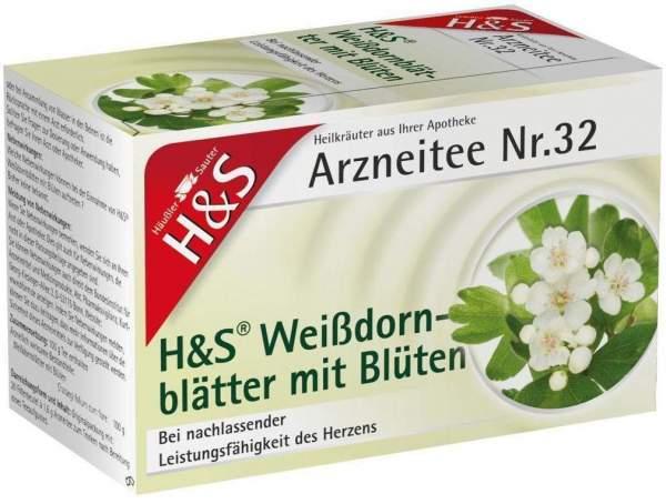 H&S Weißdornblätter Mit Blüten 20 Filterbeutel