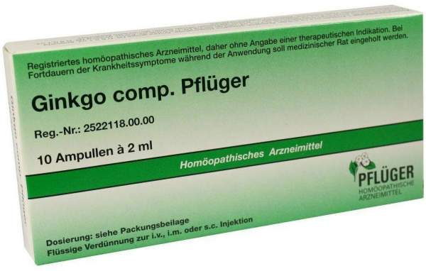 Biochemie Pflüger Ginkgo Comp. Pflüger 10 Ampullen