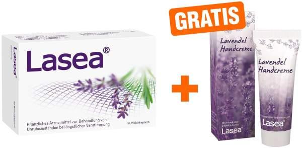 Lasea 56 Weichkapseln + gratis Lavendel Handcreme
