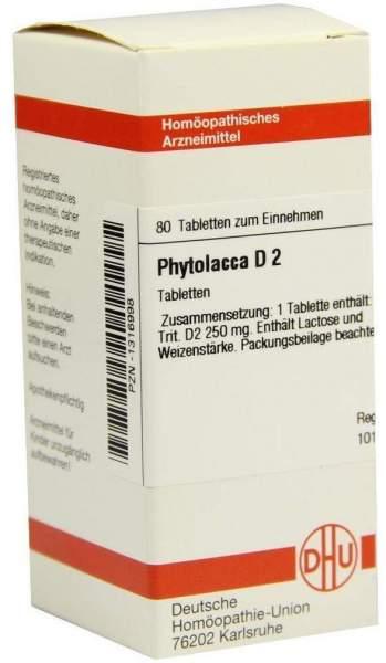 Phytolacca D2 80 Tabletten