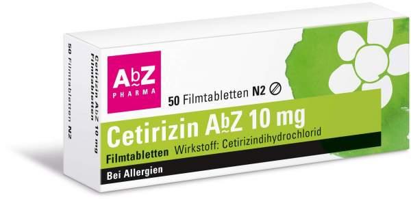Cetirizin Abz 10 mg 50 Filmtabletten