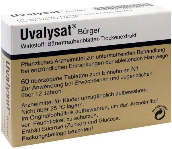 Uvalysat Bürger 60 Überzogene Tabletten