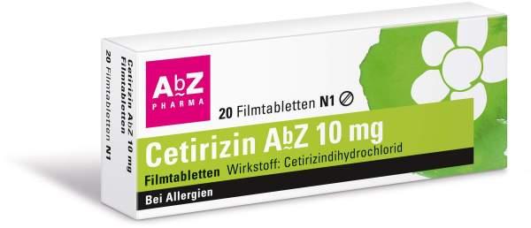 Cetirizin Abz 10 mg 20 Filmtabletten
