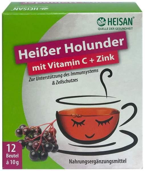 Heisan Heisser Holunder mit Vitamin C + Zink 12 x 10 g Pulver