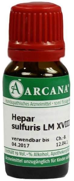 Hepar Sulfuris Lm 18 Dilution 10 ml