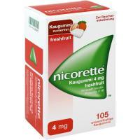 Nicorette 4 mg Freshfruit Kaugummi 105 Stück