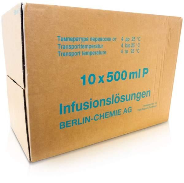 Ringer Lactat Plastik Infusionslösung 10 X 500 ml Infusionslösung